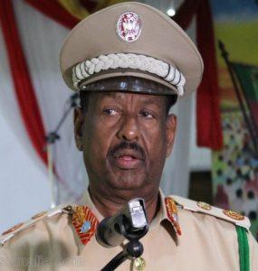Police Chief Somalia, Abdi Hassan Hijaar