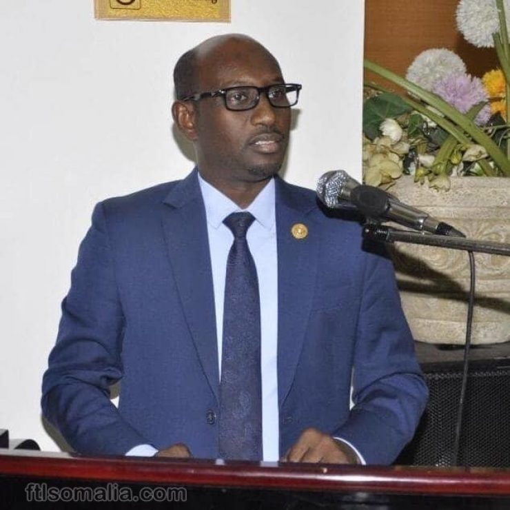 Somali Male Member of Parliament, Abdihakim Moallim Ahmed Malin