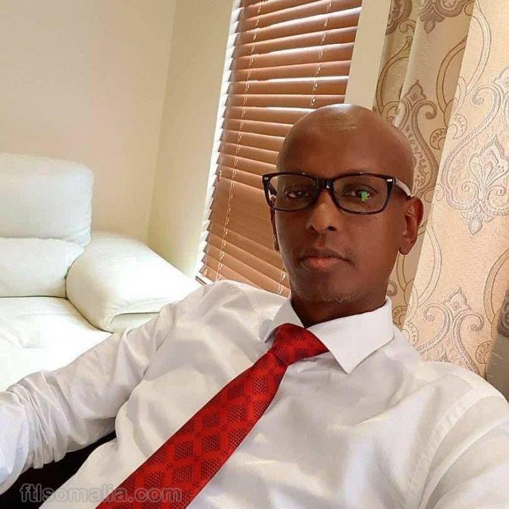 Somali male, member of parliament FGS, Abdisabir Nur Shurie