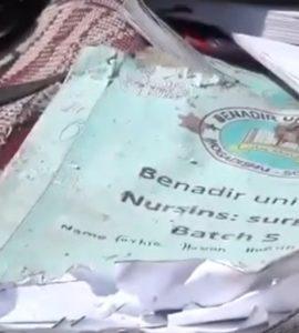 Benadir University Nursing Surgery Book, belonging to one of the victims