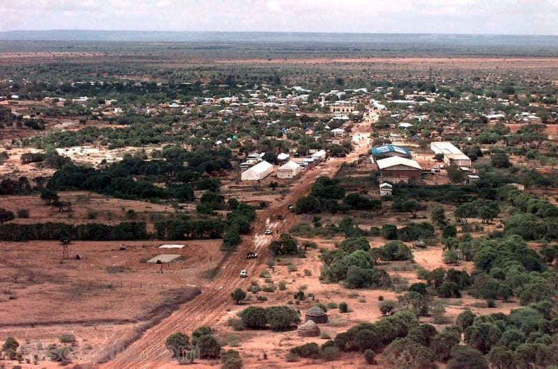Bardhere, a place in Somalia