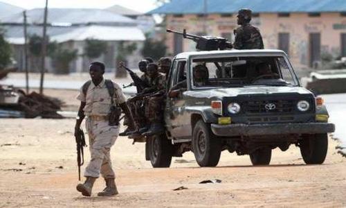 Somali forces patrolling Mogadishu