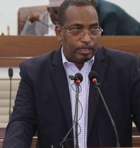 Somali Male, Member of Parliament, Abdukadir Aden Nur
