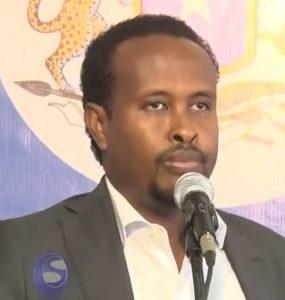 Somali male, Member of Parliament, Ahmed Osman Ibrahim